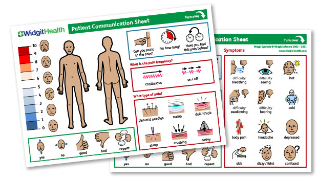 Patient communication sheet